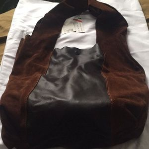 Anthropologie Suade and Leather Bag